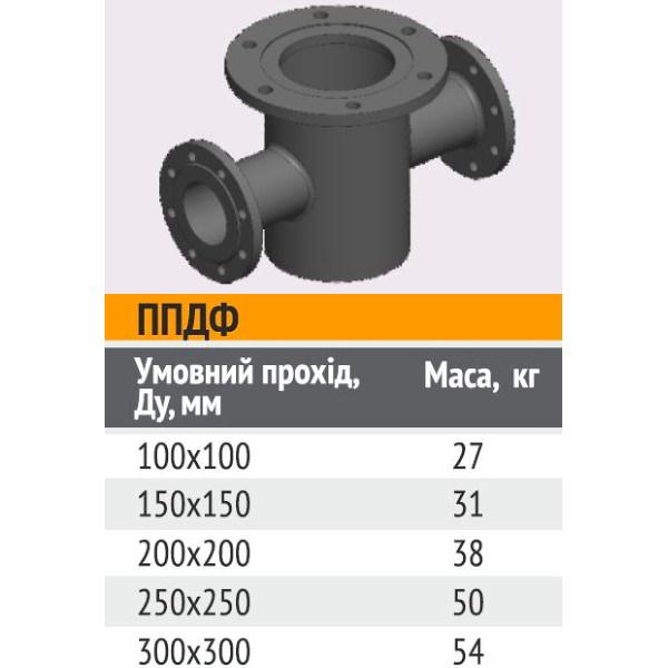 Подставка пожарная проходная (двойная) стальная ППДФ 100 х 100