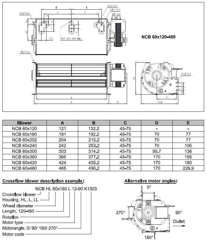 ангенциальный вентилятор 60x300