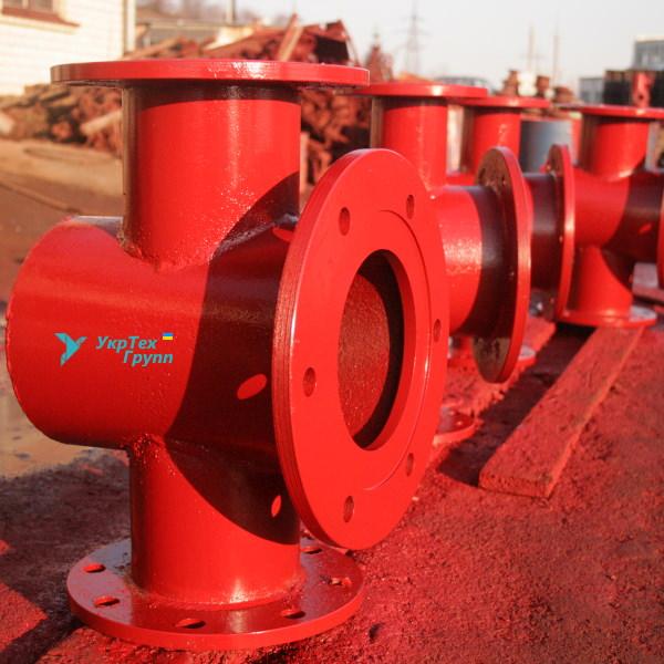 Подставка пожарная проходная стальная ППДФ 200 х 200
