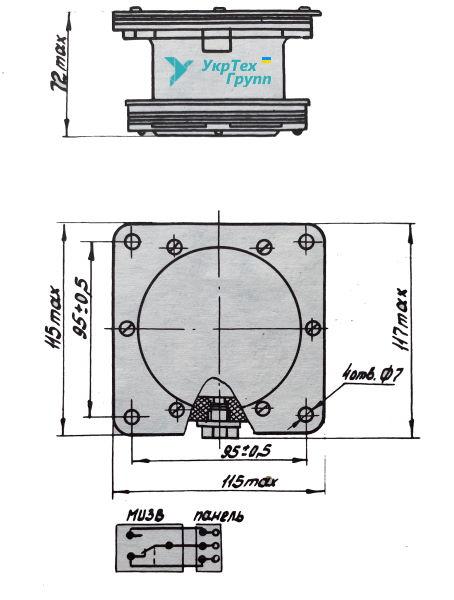 Сигнализатор уровня мембранный типа СУМ-1 У2, СУМ 1
